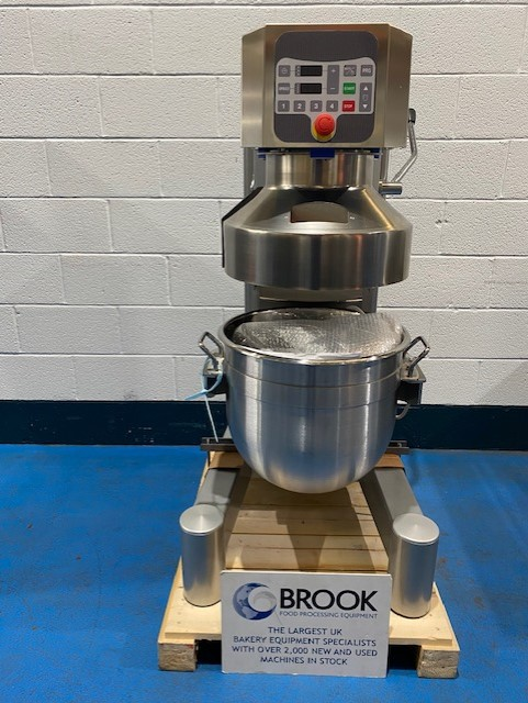 NEW POLIN K60D 60LT PLANETARY MIXER, 99 PROGRAM CONTROLLER, S/S BOWL AND 3 TOOLS