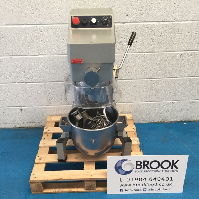 CRYPTO 20LT MIXER, PLASTIC GUARD, STAINLESS BOWL AND TOOLS